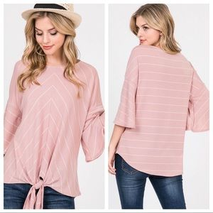 Tops - Stripe top with front knot